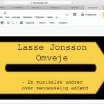 Lørdag d. 6. april 2019 – Omveje – Lasse Jonsson Solo